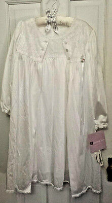 Sterling Kids Little Girls Peignor 2 Pc. Nightgown & Robe Set Size 4 NWT USA