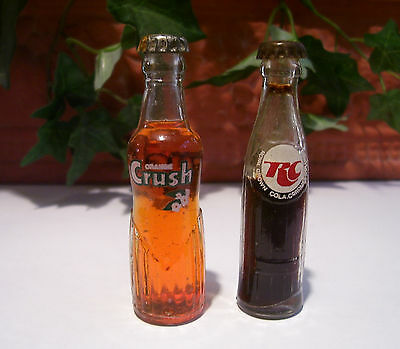 *RARE* Crush Miniature Glass BottlesCola Mini  Soda Drink