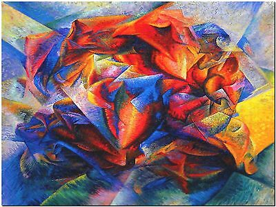 Umberto Boccioni dynamism soccer player Canvas Print Poster 18X24""