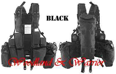 Gilet Tactical Noir 12 Poches Airsoft / Paintball