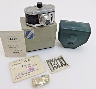 Scat Italy Subminiature camera boxed Spycamera + manual + box  lq067