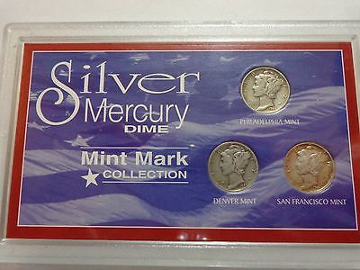 American Historic Society Silver Mercury Dimes Coin Collection Dimes Coins 40's