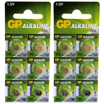 12 x GP 192 LR41 1.5V Batteries GP192 AG3 392 SR41