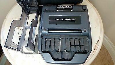 Stenograph STENTURA 200 Court Reporting Dictation With Bag Great Price !!