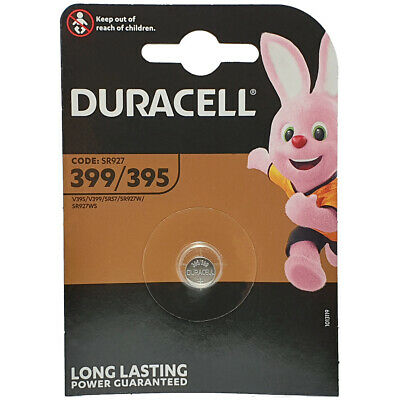 1 x Duracell 399 395 SR927W SR57 AG7 D399 Watch Battery