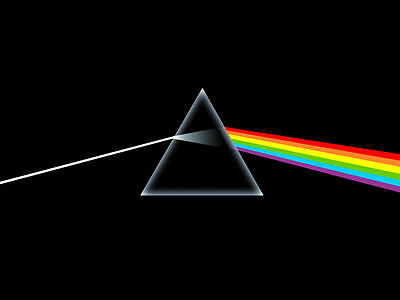 PINK FLOYD - Dark Side of the Moon - Original - Canvas Print Poster 8X10""