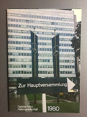 1980 Mercedes-Benz Factory Stockholder's Report, English RARE!! Awesome L@@K