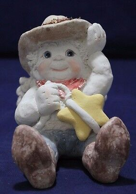 Cast Art Dreamsicle Cherub Cowboy catch a falling star Kristin 4-1/2""