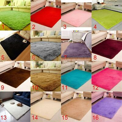 Anti-Skid Fluffy Shaggy Area Rug Home Dining Room Bedroom Soft Cosy Carpet PICK