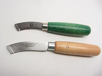 Shoe Knife Set  2pc Leather Skiving Cutting Working Crafts Knives