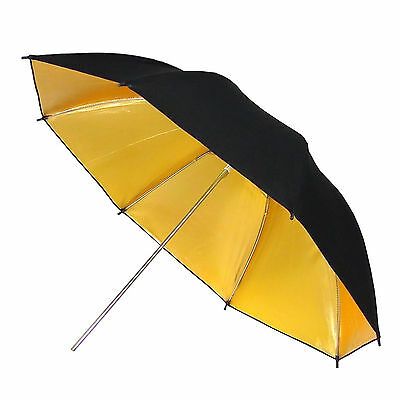 "Umbrella DynaSun UR02 Gold Golden Black 33"" Studio Reflective Softbox Soft Box"