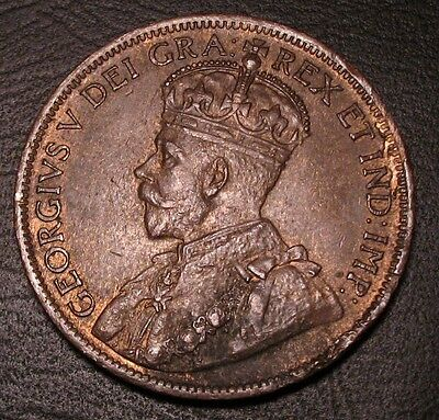 Old Canadian Coins Choice 1919 Canada Large Cent Unc Luster