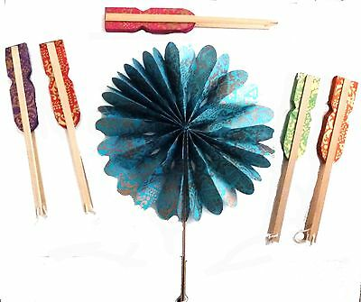 "Nepalese Handmade Paper Fan 8"" Eco Friendly Choice Of Colours"