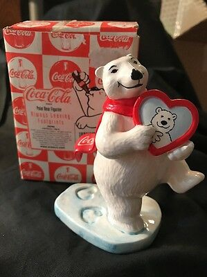 "Coca-Cola Polar Bear Figurine Collection:  ""Always Leaving Footprints"""