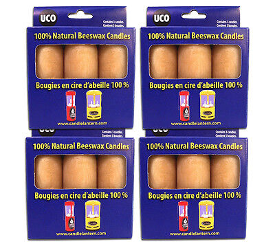 Beeswax Candle 12 pack Uco Emergency Survival Candle 12 to 15 hr Burn Time