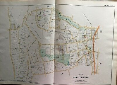 1890 E. Robinson, West Orange, Nj Essex County Country Club, Copy Plat Atlas Map