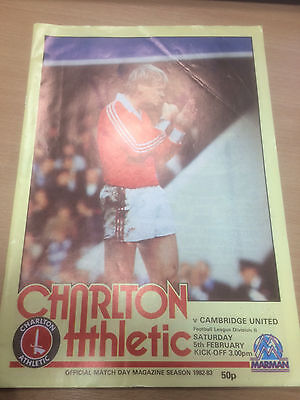 Charlton Athletic v Wimbledon - Programme - 5th February 1983 - Division Two