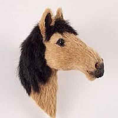 CUTE BROWN/BLACK HORSE FUR MAGNET! Start collecting Horses,Dogs, Birds & Animals