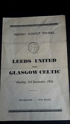 Leeds United V Celtic Friendly 1956