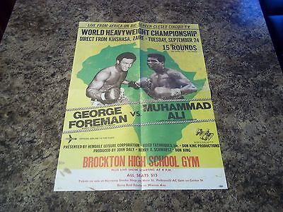 Rumble In The Jungle 1974 Ali Foreman Coloured  Poster
