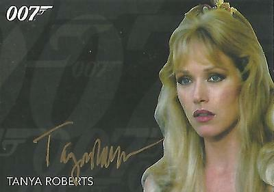 """James Bond Archives Final: Tanya Roberts """"Stacey Sutton"""" Gold Autograph Card"""