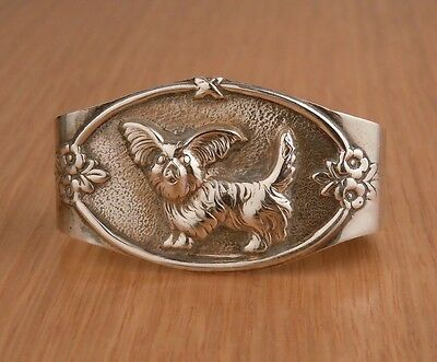 Antique Portuguese 833 Sterling Silver Child's Napkin Ring- Dog