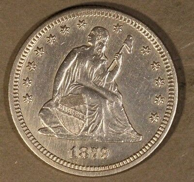 1879 Seated Liberty Quarter Dollar High Quality Cleaned** FREE U.S. SHIPPING **