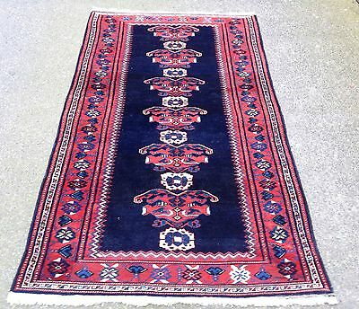 Antique Persian Hamedan With Afshar  Design Handwoven Unusual Rug