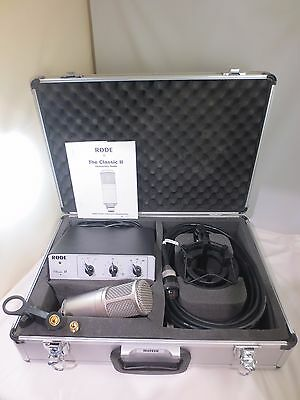 Rode Classic Ii Microphone Excellent Working & Cosmetics With Travel Case