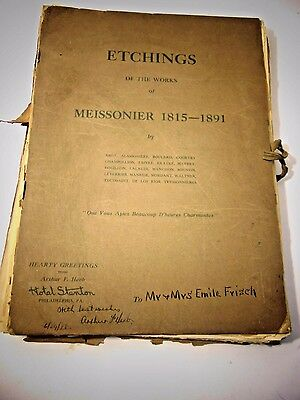 Etchings of the Works Meissonier 1815 - 1891 61 Etchings Various Famous Artists