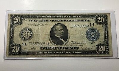 1914 $20 Federal Reserve Richmond World War I Type Note Nice