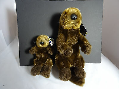 Smithsonian oceanic collection plush otter and baby