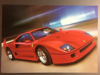 1990 Ferrari F40 Coupe Print, Picture, Poster RARE!! Awesome L@@K
