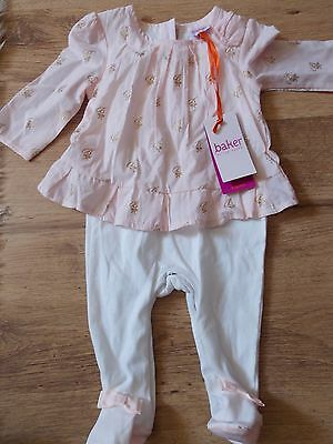 BNWT Ted Baker Baby Girls Sleepsuit Romper Age 3-6 Months Pink New