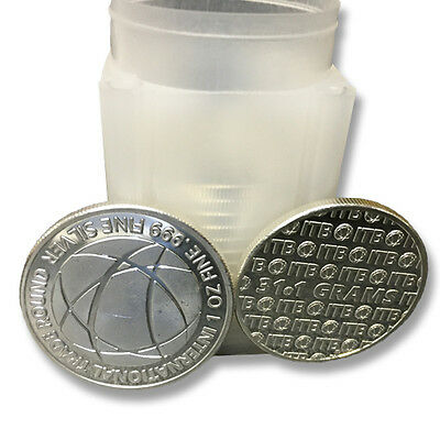 1 oz Pure Silver International Trade Rounds - 20 troy oz Total .999