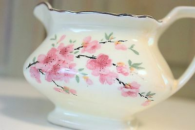 Vintage WS George Lido Canarytone China Creamer Made in USA 135A Cherry Blossom