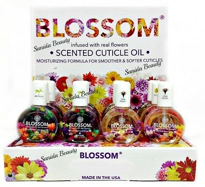 """Blue Cross """"Blossom"""" - Cuticle Oil w/ REAL Flowers - 30mL - Choose your scent!"""