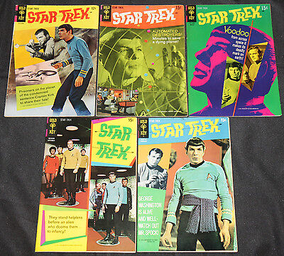 Gold Key Silver-Bronze Age STAR TREK 40pc Count Mid Grade Comic Lot VF TV Movie