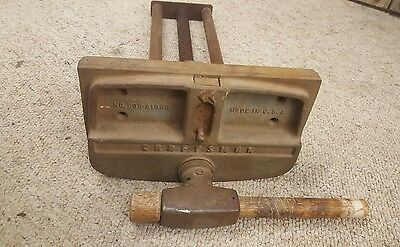 """VTG. Craftsman 10"""" jaw quick release woodworking under bench vice made in usa"""