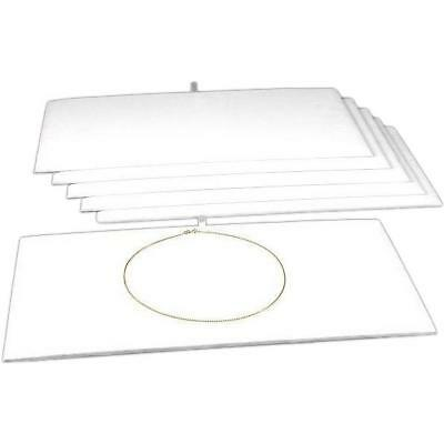 6 Jewelry Chain Display Pad White Velvet Showcase Tray