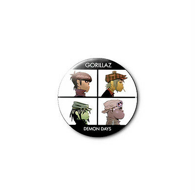 Gorillaz (a) 1.25in Pins Buttons Badge *BUY 2, GET 1 FREE*