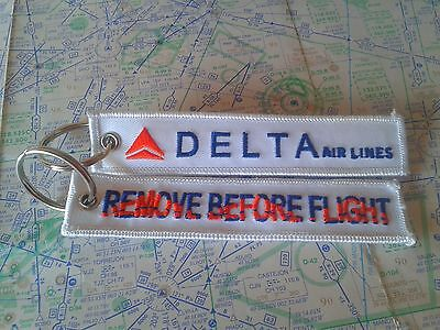 Delta Airlines remove before flight keyring keychain USA america