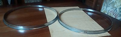 """Vintage Lefima drums 13"""" snare drum hoops, FREE SHIPPING"""
