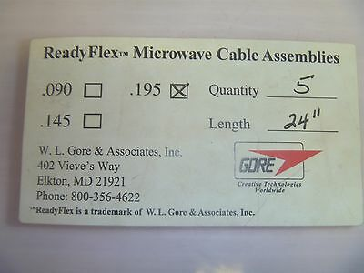 Gore 195 ReadyFlex Microwave Cable Assemblie - 18GHz - 24 in - Male SMA