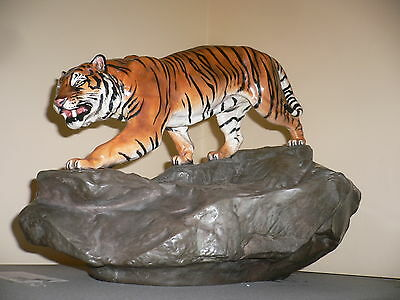 Charles Noke Royal Doulton 'Tiger on Rocks' sculpture Large