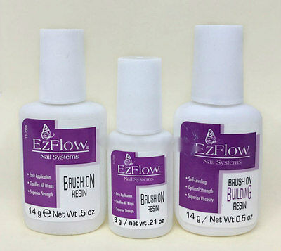EzFlow Nail Systems- BRUSH ON RESIN- Pick Any Kind