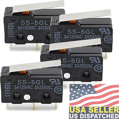 Omron Model: SS-5GL (PACK OF 4)  Micro Switch 5A125VAC 3A250VAC A5