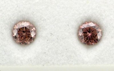 Natural Argyle Pink Diamonds 2=0.32.6ct 5PR/Si RBC