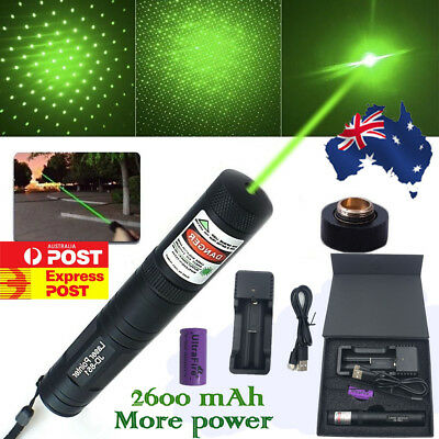 JD 851 Green Red Laser Pointer USB CHARGER 532nm 1mw 16340 Rechargeable Focus