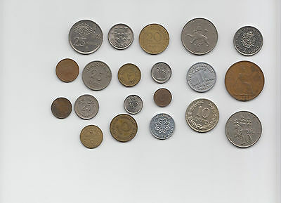 Mixed Lot Of 20 Different World Coins- Auction #1